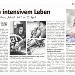 Sonntagsjournal Zevener Zeitung, 12. April 2015