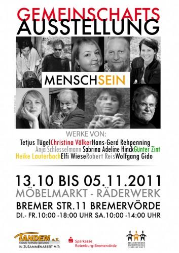 Plakat Mensch Sein (2011)