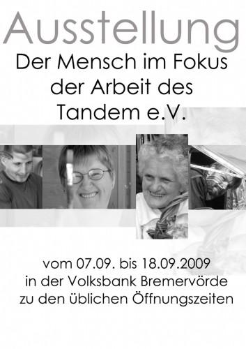 Plakat Der Mensch im Fokus (2009)
